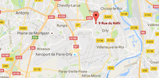 Map of 9 rue Kéfir, 94310 Orly